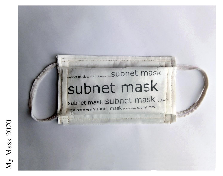 """Artist - Paola Zorzi/ Title - Subnet Mask/ A proposito di ciò """"che sta sotto"""" la superficie.  La maschera in questo caso è tutto ciò che sottende a tutta la rete di collegamenti e instradamenti che rendono possibile la comunicazione nel web. La rete come sovrastruttura del nostro io relazionale attuale.  Allo stesso modo sotto  la maschera c' è il viso, uno dei tanti elementi identitari di noi stessi, un """"noi"""" risultato delle innumerevoli sottese  relazioni  e interazioni che popolano la nostra vita. Soprattutto in questa particolare contngenza./ About this """"that is below"""" the surface. The mask in this case is everything that underlines the network of connections and routing that make possible the communication on the web. The network as superstructure of our current relational self. In the same way under the mask there is the face, one of many identity elements of ourselves, """"a we"""" the result of the many underlying relationships and interactions that populate our lives. Much more in this particular contingence./ Materials:  cotton fabric thin piece of wool baking paper/ Date of publication 30.05.2020"""