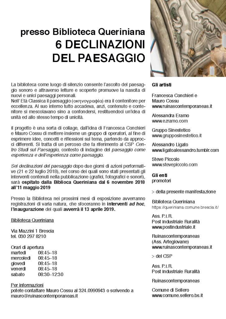 6 DECLINAZIONI DEL PAESAGGIO IN QUERINIANA