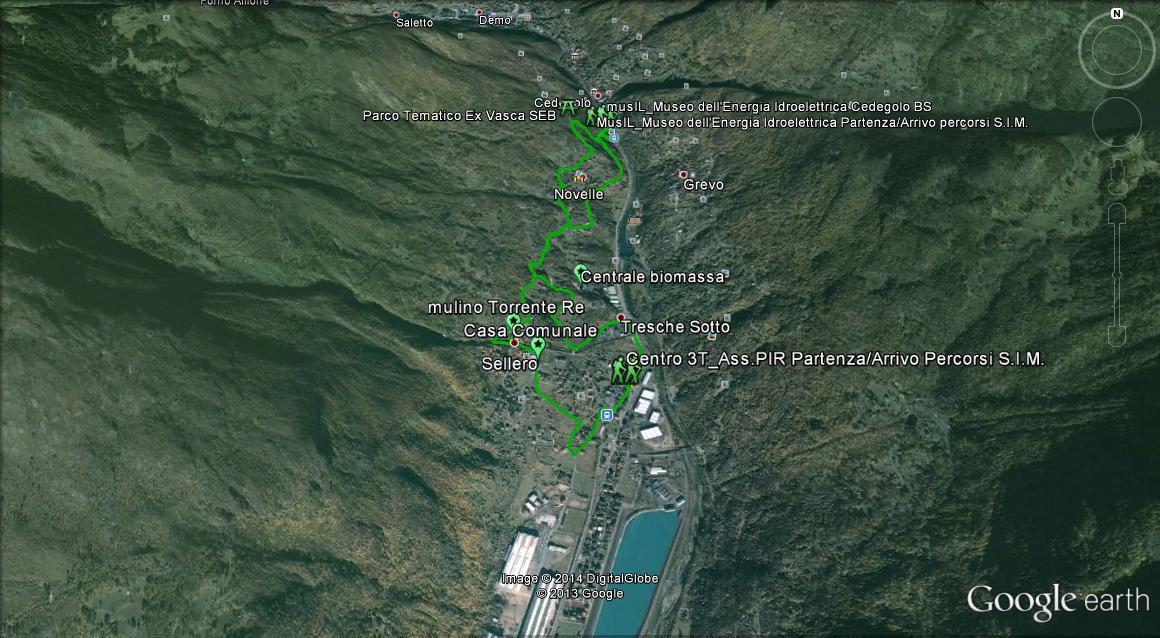 Bike Alpi Valle Camonica Valcamonica escursione e percorso facile. MTB, archeologia industriale, centro storico, spazio pic nic
